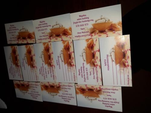 Karta podarunkowa do salonu mobilnego Migotka fryzjersko-kosmetyczny