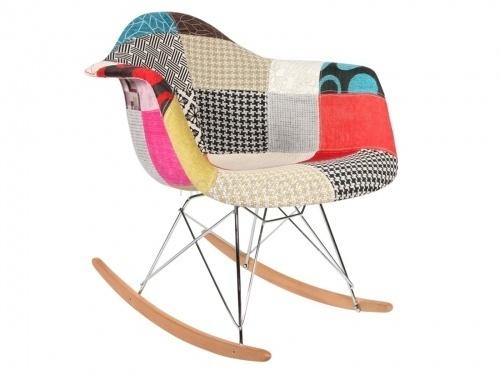 Patchworkowe krzesło bujane