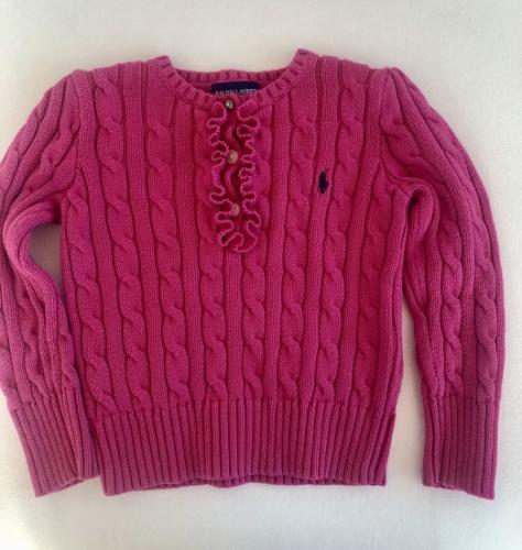 Sweterek różowy Ralph Lauren 2 latka