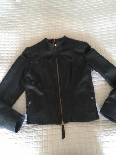 Czarna skórzana kurtka BOSS ORANGE  r. 34