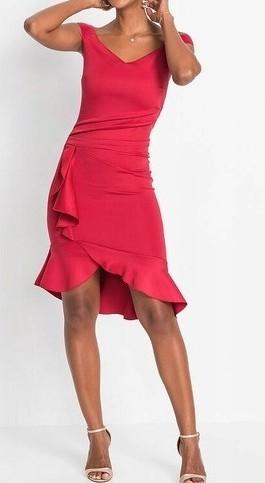 Nowa sukienka w czerwonym kolorze MARKA BODYFLIRT  ROZMIAR: 44/46